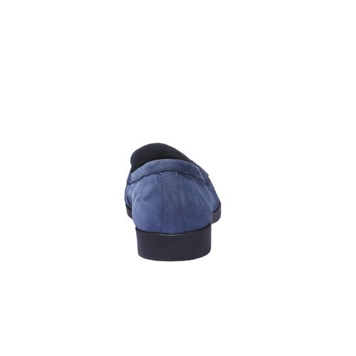 Scarpe di pelle in stile Penny Loafer flexible, blu, 516-9112 - 17