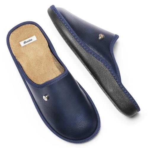 Pantofole blu da uomo bata, blu, 871-9304 - 19