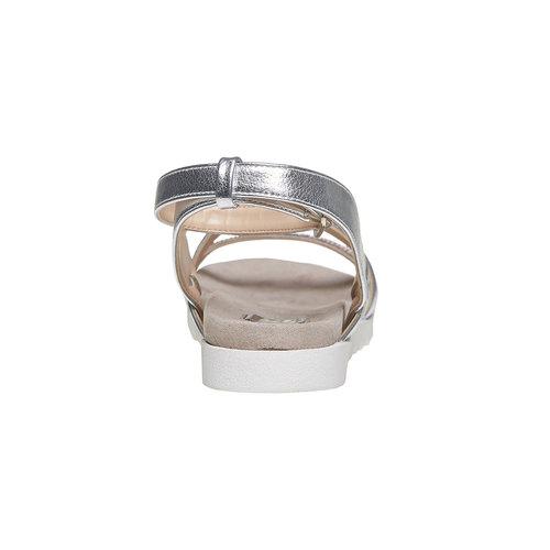 Sandali con suola appariscente bata, argento, 561-1346 - 17