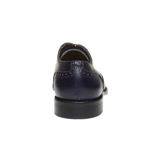 Scarpe basse in pelle di colore blu bata-the-shoemaker, blu, 824-9192 - 17