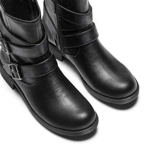 Stivaletti con doppio cinturino bata, nero, 591-6364 - 17