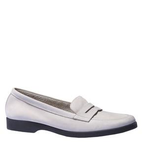 Scarpe di pelle in stile Penny Loafer flexible, grigio, 516-2112 - 13