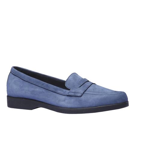 Scarpe di pelle in stile Penny Loafer flexible, blu, 516-9112 - 13