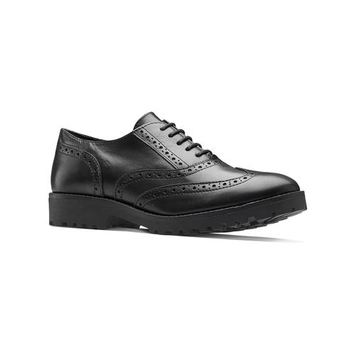 Stringata in pelle nera bata, nero, 524-6135 - 13
