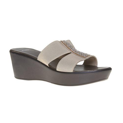 Slip-on con plateau bata, beige, 779-8100 - 13