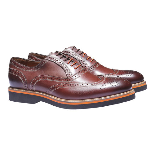 Oxford di pelle con suola appariscente bata-the-shoemaker, marrone, 824-4132 - 26