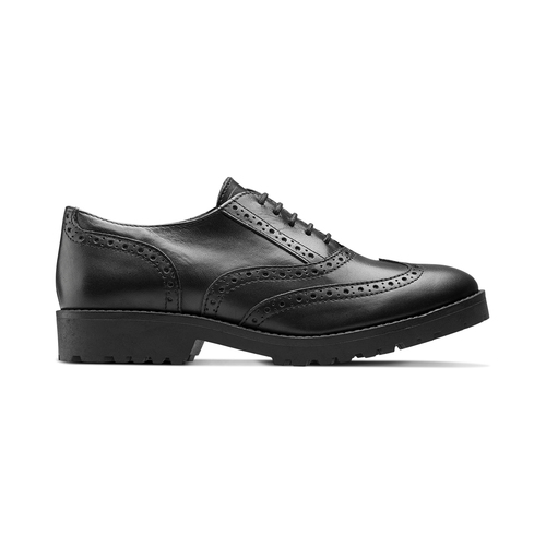 Stringata in pelle nera bata, nero, 524-6135 - 26