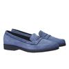 Scarpe di pelle in stile Penny Loafer flexible, blu, 516-9112 - 26