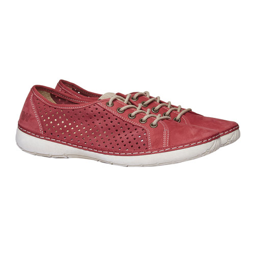 Sneakers di pelle weinbrenner, rosso, 546-5238 - 26