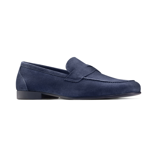 Mocassini in suede flexible, blu, 853-9186 - 13