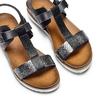 Sandali da donna bata, nero, 561-6295 - 26