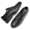 Stringata in pelle nera bata, nero, 524-6135 - 19