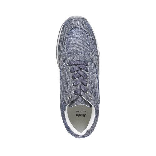 Sneakers da donna con tomaia metallizzata bata, blu, 549-9255 - 19