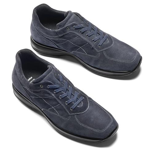 Scarpe da uomo in pelle bata, blu, 843-9315 - 19