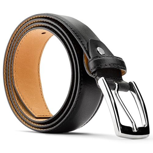 Cintura in vera pelle bata, nero, 954-6170 - 26