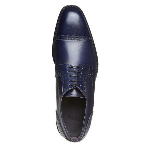 Scarpe basse in pelle di colore blu bata-the-shoemaker, blu, 824-9192 - 19