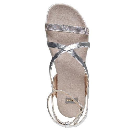 Sandali con suola appariscente bata, argento, 561-1346 - 19