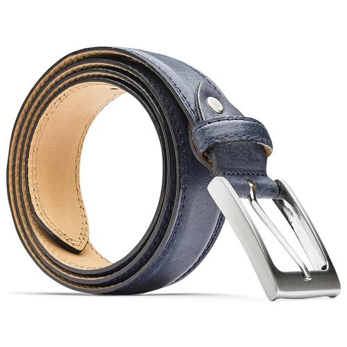 Cintura blu da uomo bata, blu, 954-9828 - 26