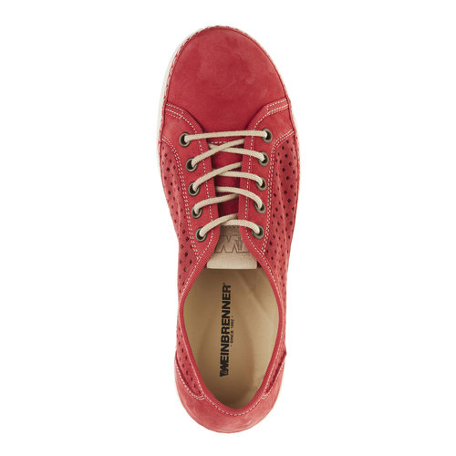 Sneakers di pelle weinbrenner, rosso, 546-5238 - 19