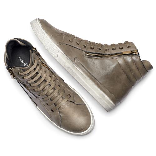 Sneakers stivaletto north-star, beige, 841-2503 - 19
