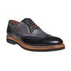 Oxford di pelle con suola appariscente bata-the-shoemaker, grigio, 824-2132 - 13