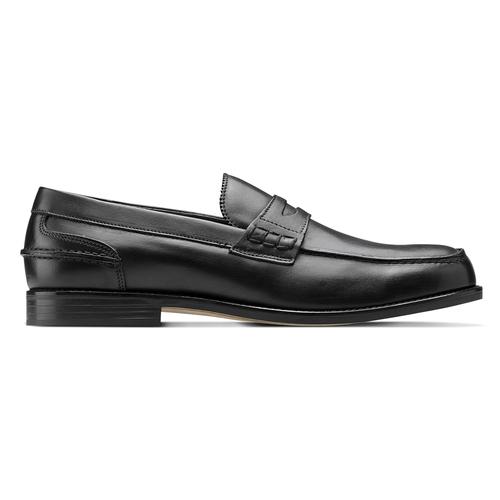 Penny loafer in pelle bata, nero, 814-6128 - 26