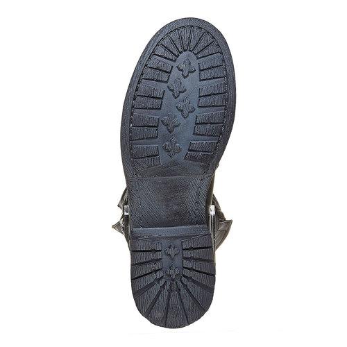 Stivali da donna con fibbie bata, nero, 594-6103 - 26