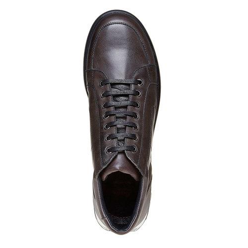 Sneakers da uomo con suola strutturata. flexible, marrone, 844-2205 - 19