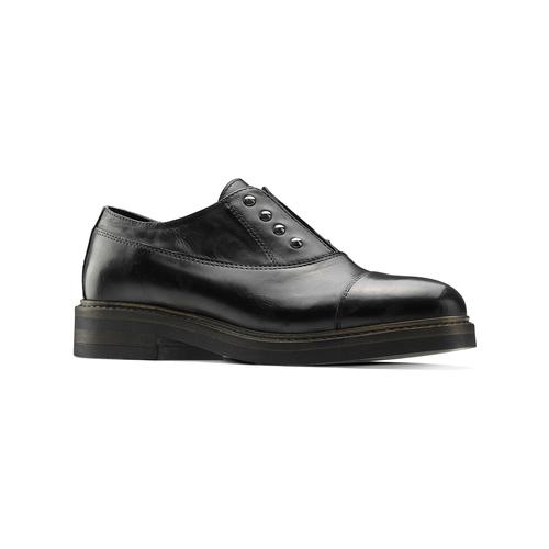 Scarpe basse senza lacci con borchie bata, nero, 514-6248 - 13