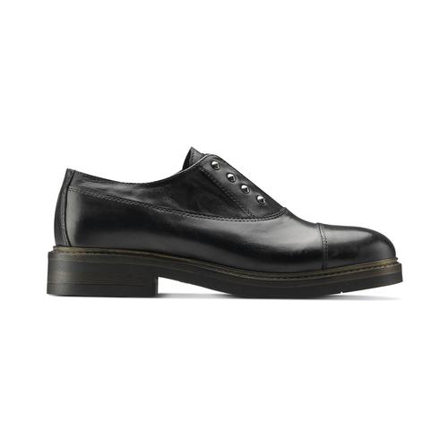 Scarpe basse senza lacci con borchie bata, nero, 514-6248 - 26