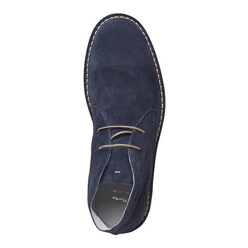 Scarpe scamosciate in stile Desert bata, blu, 843-9267 - 19