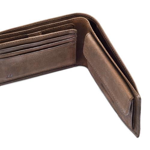 Portafoglio in pelle da uomo bata, marrone, 944-4143 - 15