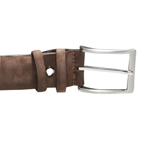 Cintura da uomo in pelle bata, marrone, 954-4120 - 26