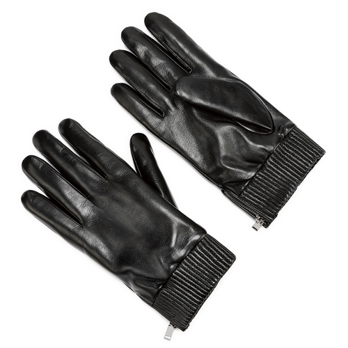 Guanti da uomo con zip bata, nero, 904-6128 - 13