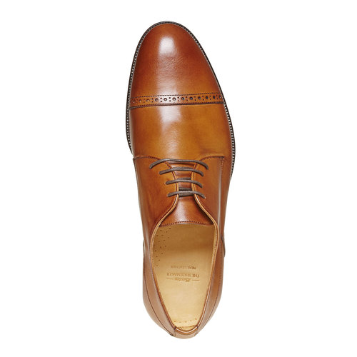 Scarpe basse di pelle in stile Derby bata-the-shoemaker, marrone, 824-3296 - 19