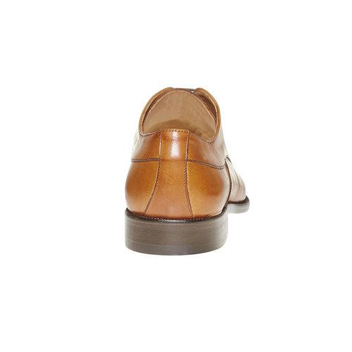Scarpe basse di pelle in stile Derby bata-the-shoemaker, marrone, 824-3296 - 17
