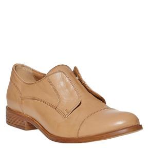 Scarpe basse in pelle senza lacci bata, marrone, 514-3267 - 13