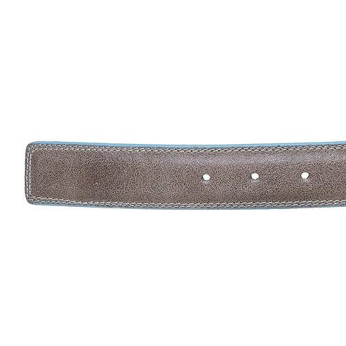 Cintura in pelle con orlo blu bata, grigio, 954-8228 - 16