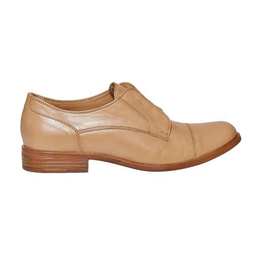 Scarpe basse in pelle senza lacci bata, marrone, 514-3267 - 15