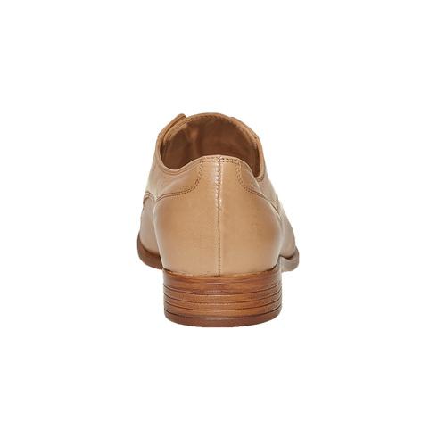 Scarpe basse in pelle senza lacci bata, marrone, 514-3267 - 17