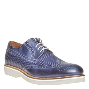 Scarpe basse di pelle da uomo bata-the-shoemaker, blu, 824-9302 - 13