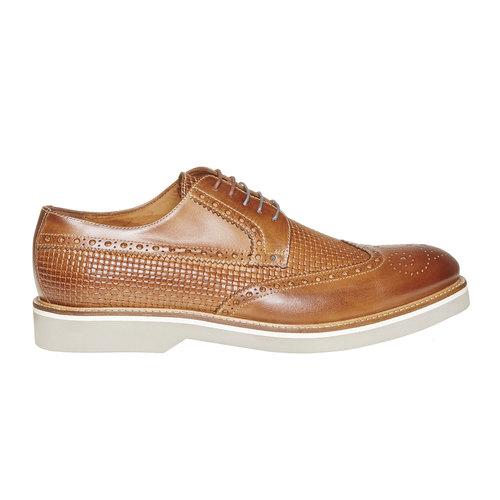 Scarpe basse di pelle con decorazione Brogue bata-the-shoemaker, marrone, 824-3302 - 15