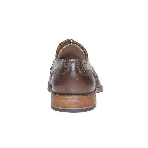 Scarpe basse di pelle da uomo bata, marrone, 824-4563 - 17