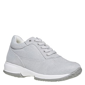 Sneakers argentate da donna bata, grigio, 549-2255 - 13