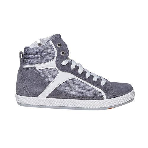 Sneakers da bambino sopra la caviglia flexible, grigio, 311-2245 - 15