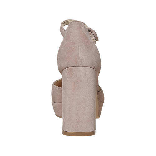 décolleté con cinturino e tacco largo insolia, beige, 723-2962 - 17
