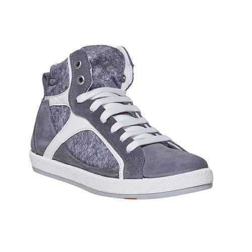 Sneakers da bambino sopra la caviglia flexible, grigio, 311-2245 - 13