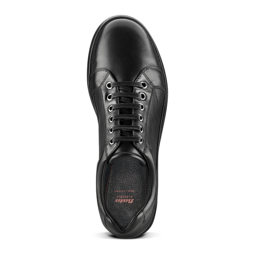 Sneakers Flexible in vera pelle flexible, nero, 844-6709 - 17