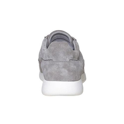 Sneakers da uomo in pelle flexible, grigio, 843-2703 - 17