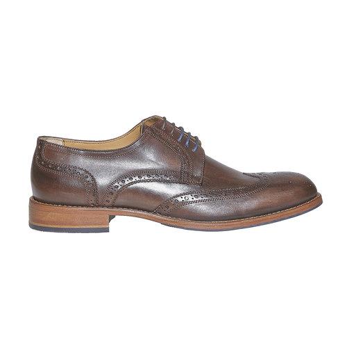 Scarpe basse di pelle da uomo bata, marrone, 824-4563 - 15